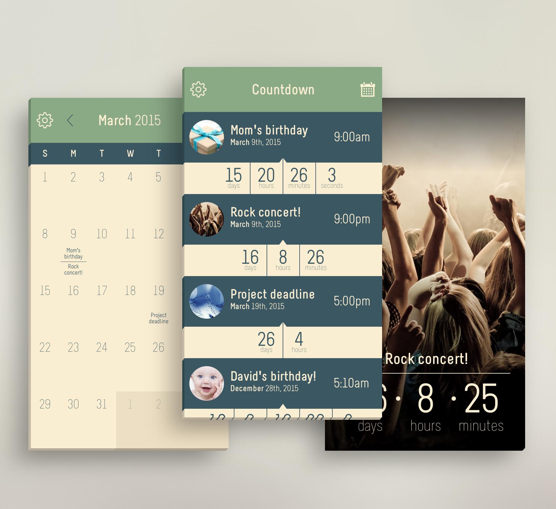Countdown Reminder Calendar