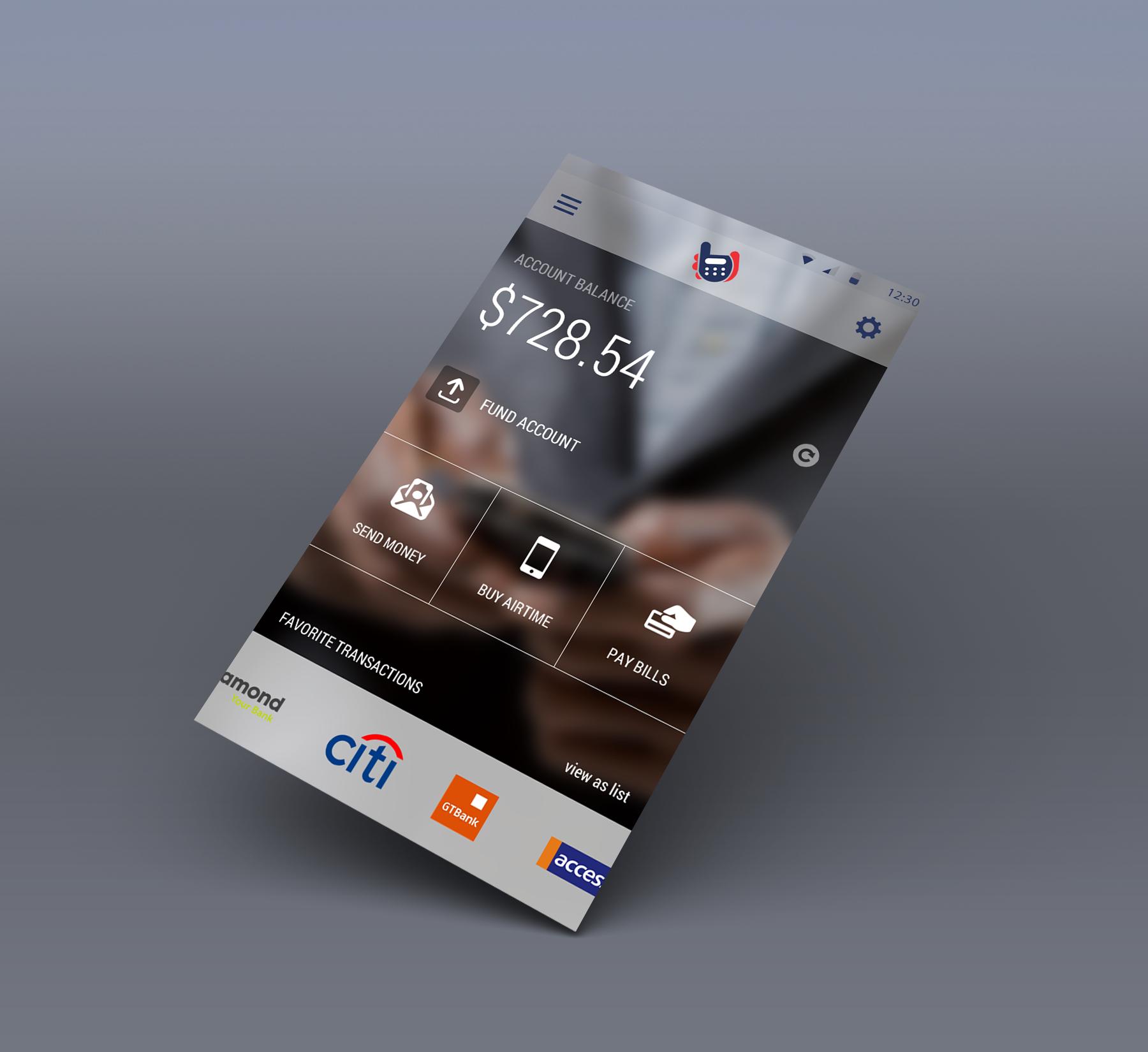 Banking user interface